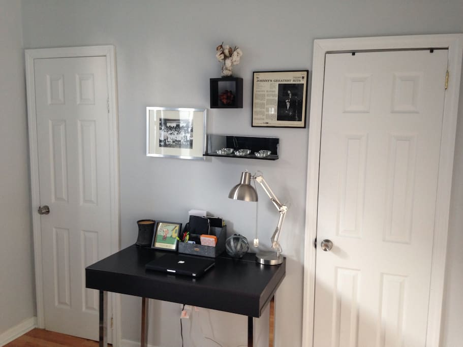 Desk within the Bedroom