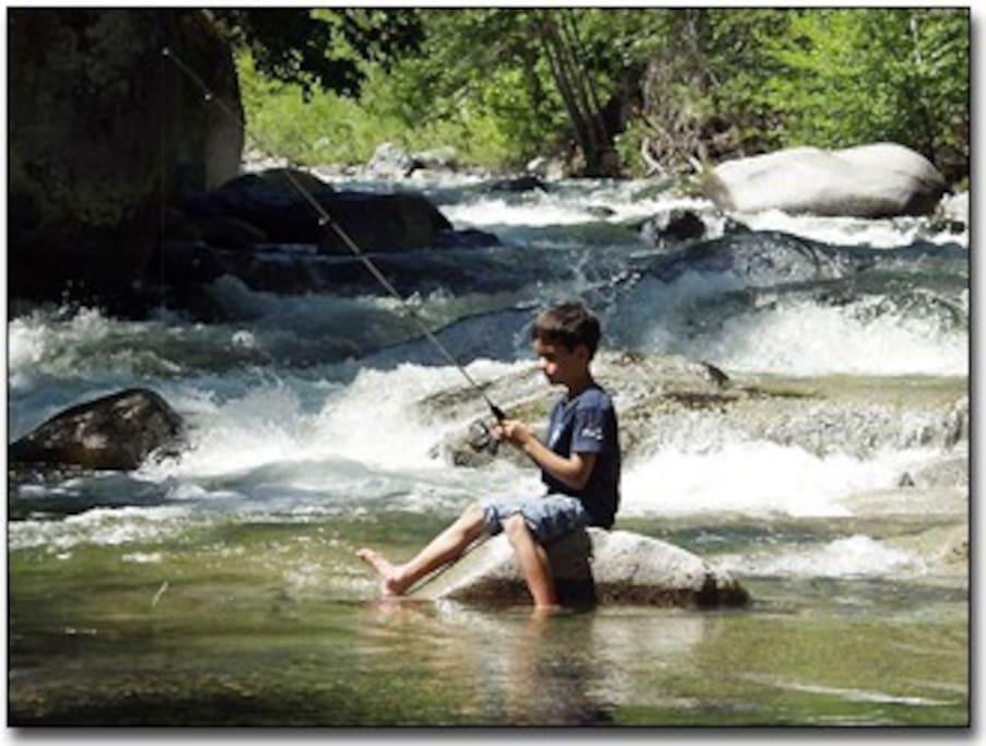 Fishing in Coffee Creek