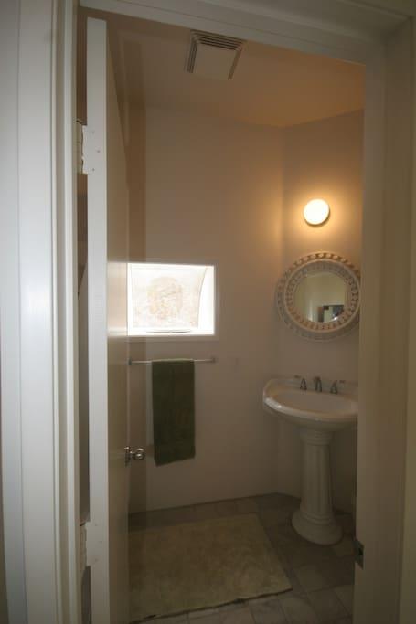 Bathroom also