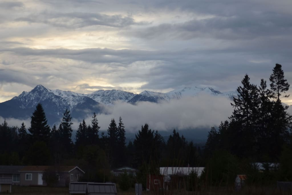 Spectacular mountain view from our yard.