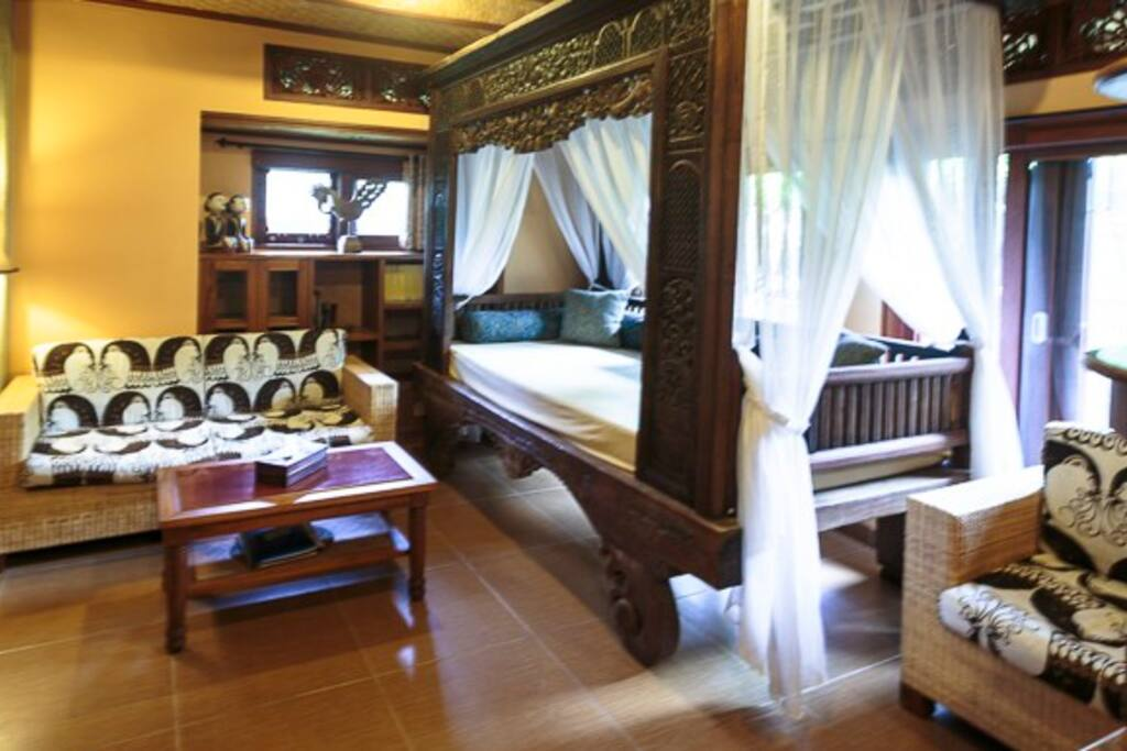 Living Room, Sawo Apartment 1, Murni's Houses, Ubud, Bali.