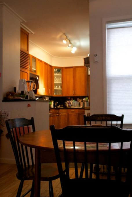 Dining area and kitchen with dishwasher, microwave and all your gourmet cooking needs.