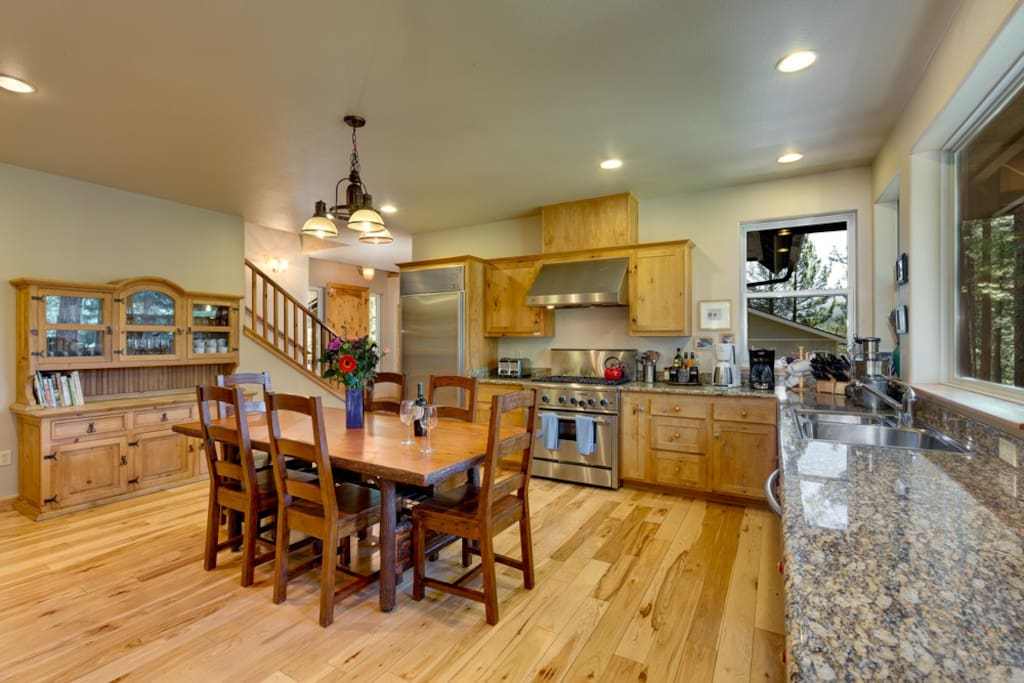 Kitchen--centrally located and with lots of space too cook