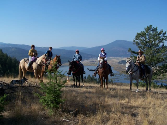 Horseback Ride Over Smith Lake