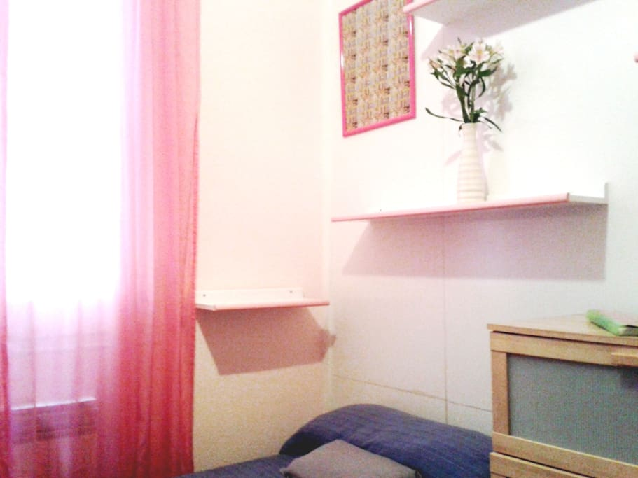 Situated in the inside of the apartment, it`s a great place to sleep!