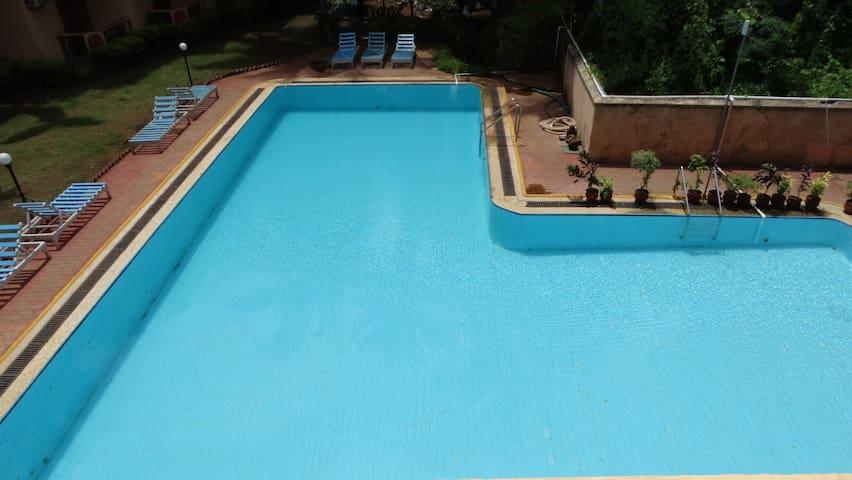 Pool Facing Studio Flat-Abalone Resort, Arpora - North Goa - Flat