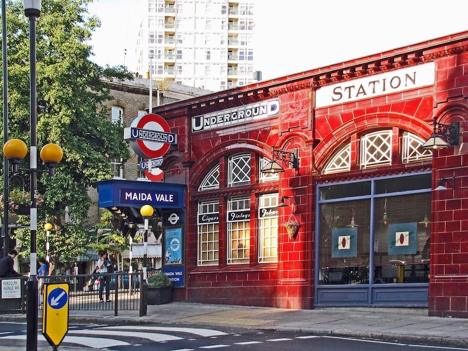The nearest tube station