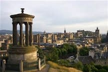 Calton Hill (Royal Observatory) 5 minutes on bus