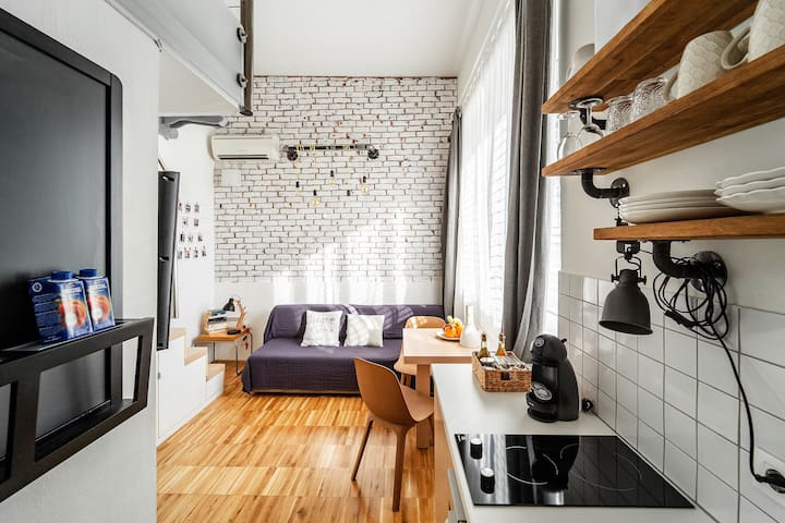 Design & cosy studio, 10 min walk to city center