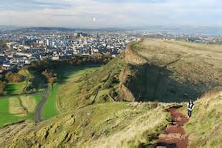 View from Arthurs Seat (10 minutes walk)
