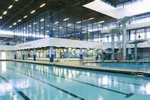 Royal Commonwealth Pool (5 minute walk, games start 23/7/14 swimming events held here in Edinburgh)