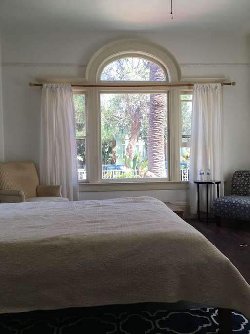 This is a very large room in the front of the house with s beautiful picture window facing the street