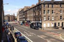 View of Clerk Street from Window
