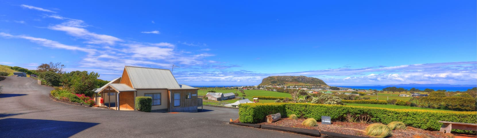 Two bedroom self contained unit with coastal views