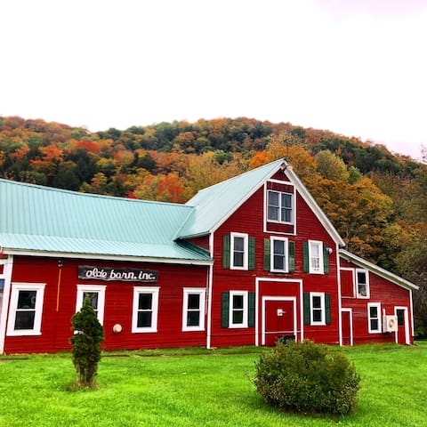 Iconic building in the town of Cuttingsville, set at the base of an operating maple farm. Next door to the Rustic Rooster Bar & Grill