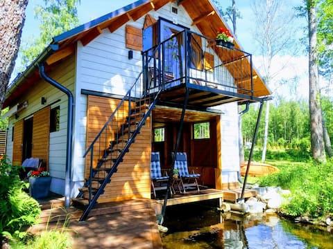 Unikalny domek z sauną