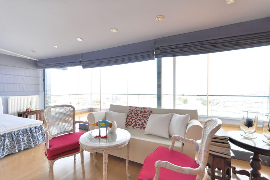 Living area full of light