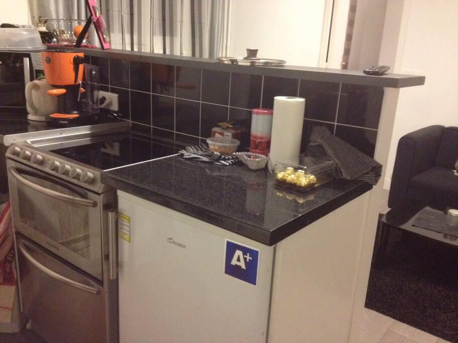 Cuisine (Réfrigérateur, four, lave-vaisselle, lave-linge, machine à café, bouilloire, micro-onde, plaque vitrocéramique...)