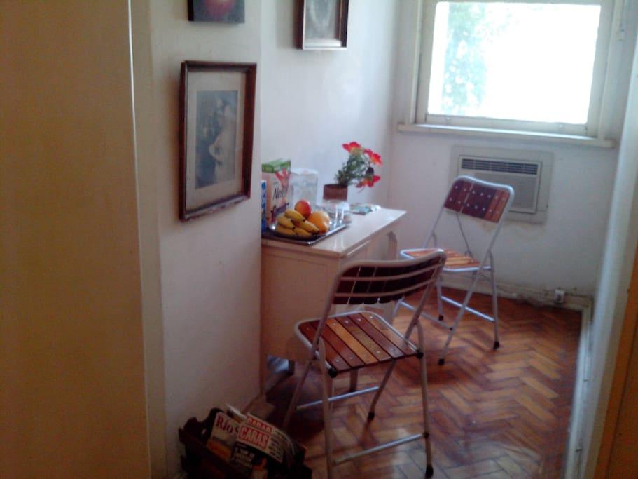 Cozy corner inside the room