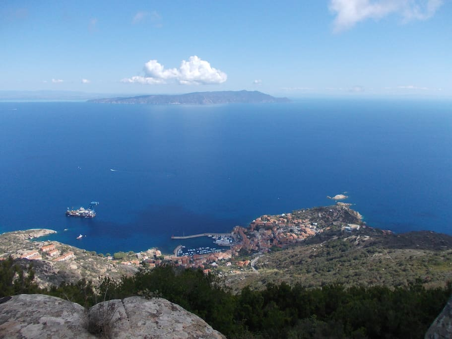 Argentario view from Giglio Island