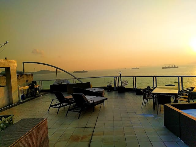 Lovely sunset view from roof