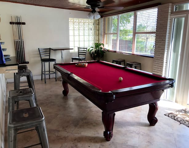 Florida Room with Billards Table - lots of seating
