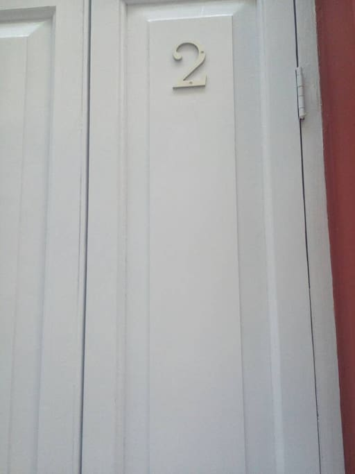 Wooden door, room 2