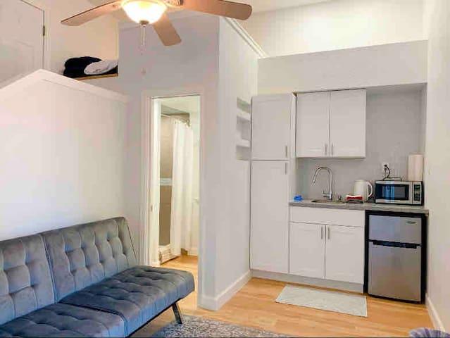 Small Studio Apt w/ Loft Bed + Deck