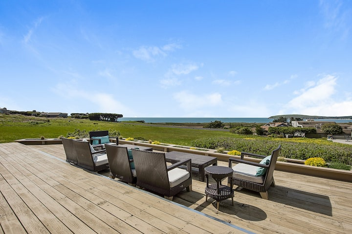 Sweeping Ocean-View Home with Private Hot Tub