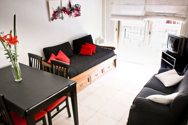 Apartamento de 2 dormitorios para 6