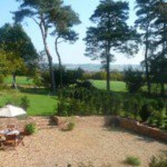 View from the Bedroom Juliette balconies