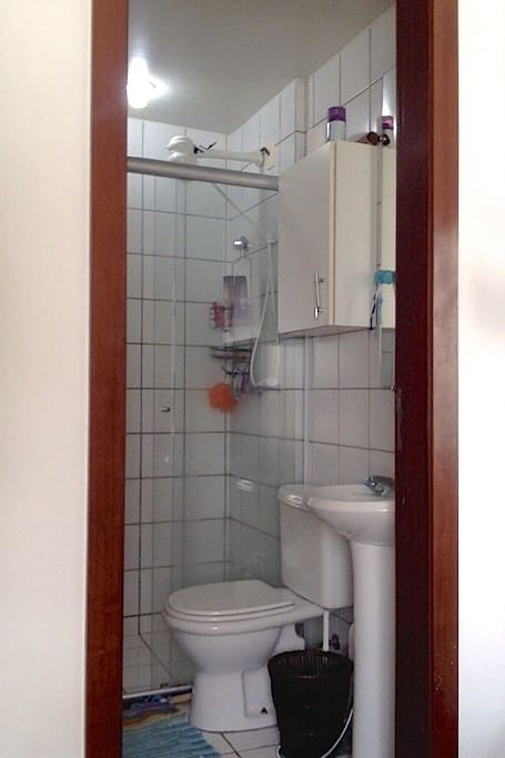 Bathroom with cabinet