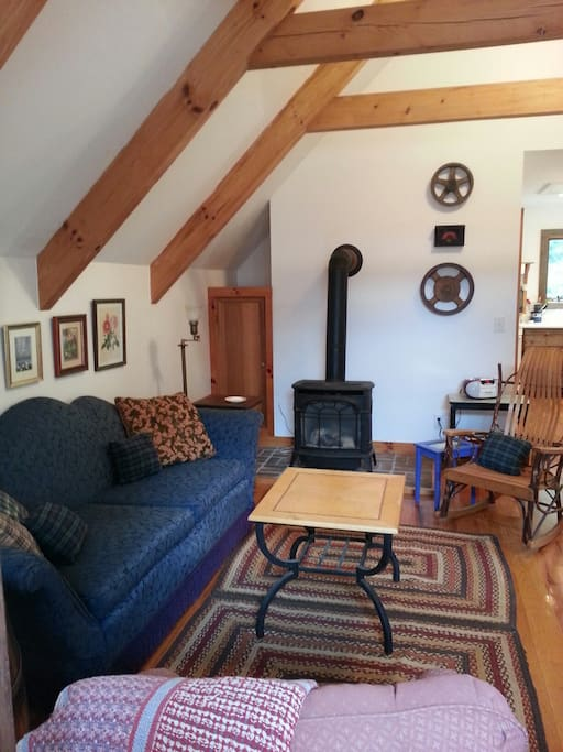 Living Room with Gas Log Heater