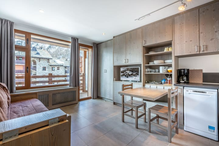 Ski-in/Ski-out studio entirely renovated right in the heart of the resort
