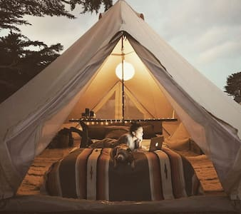 Sheltered Glamping - 'Fiordland' tent