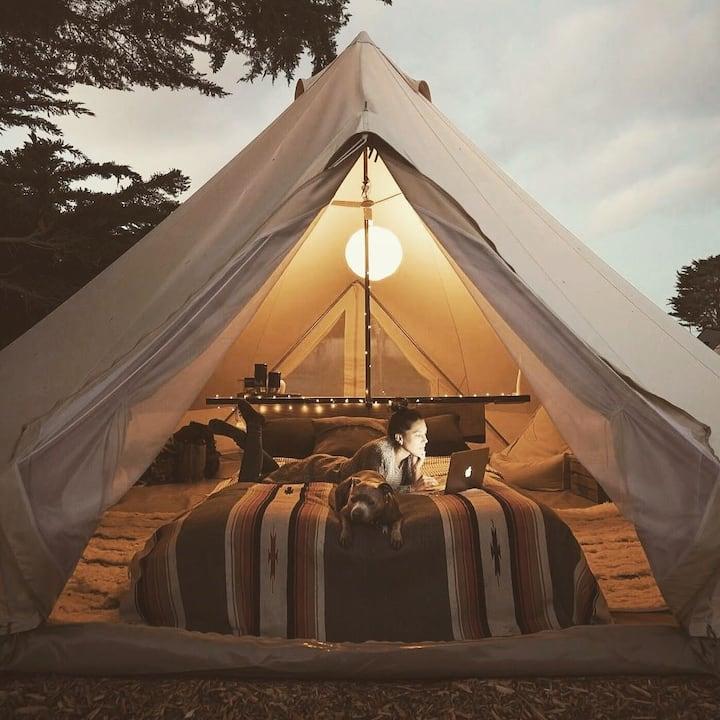 Sheltered Glamping - 'Fiordland' tent