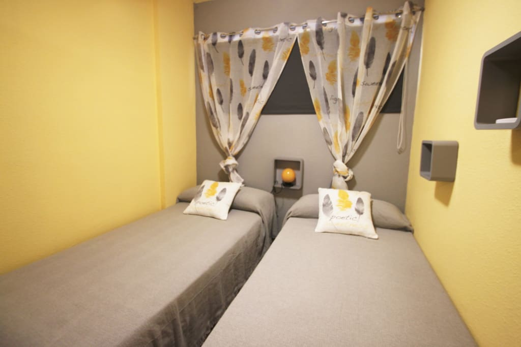 Dormitorio cama individual