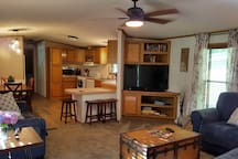 Kitchen, Dining, Living room