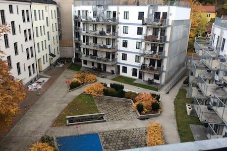 Cozy, urban, top floor apartment.