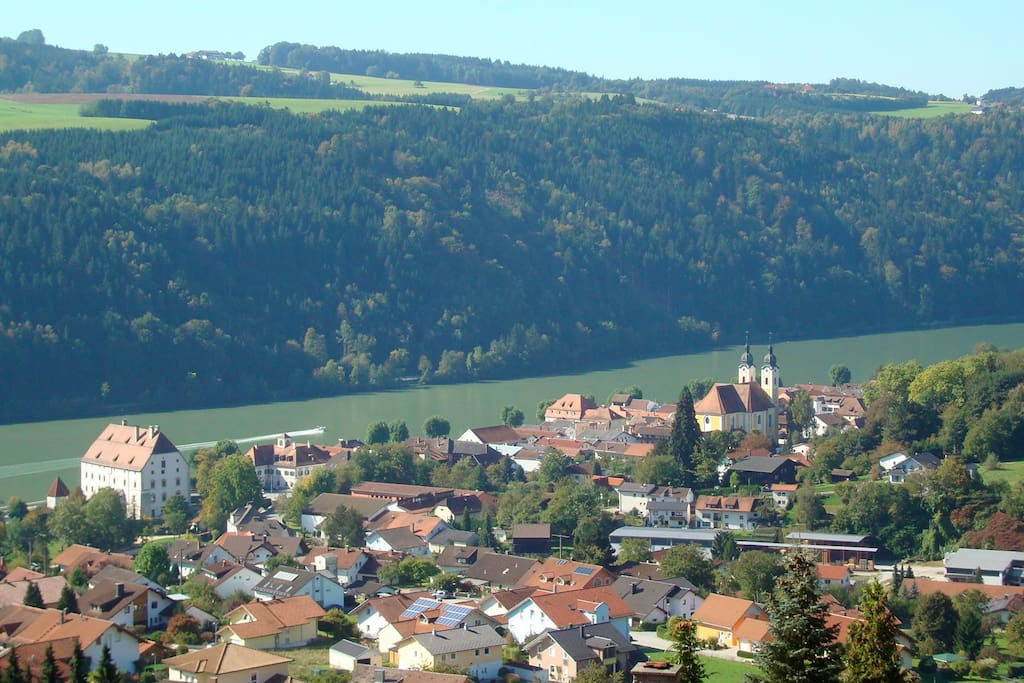 Obernzell on the Danube river