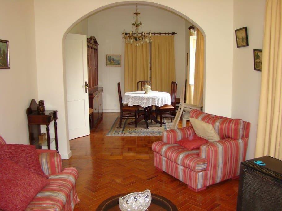 Living Room + Dinning Area