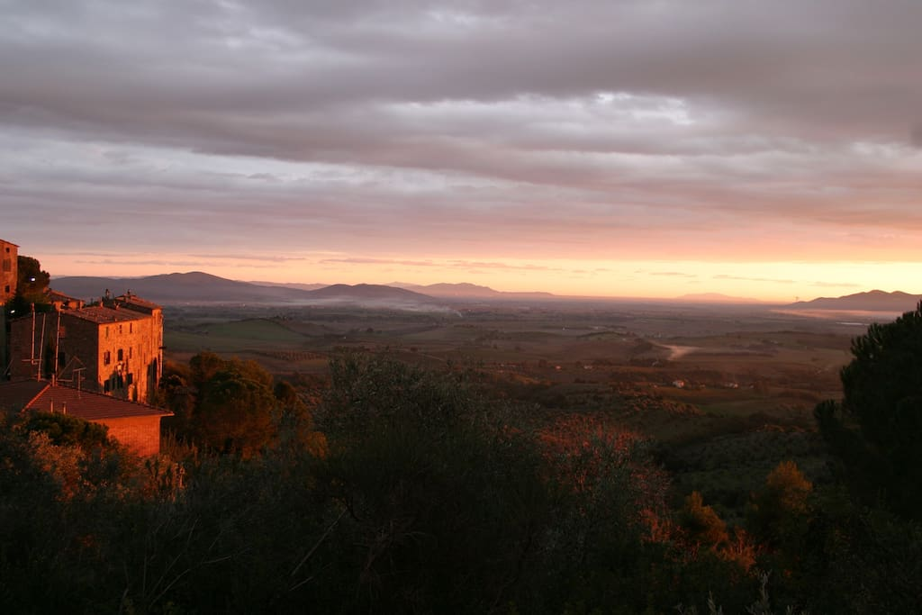View of the whole Maremma from the house