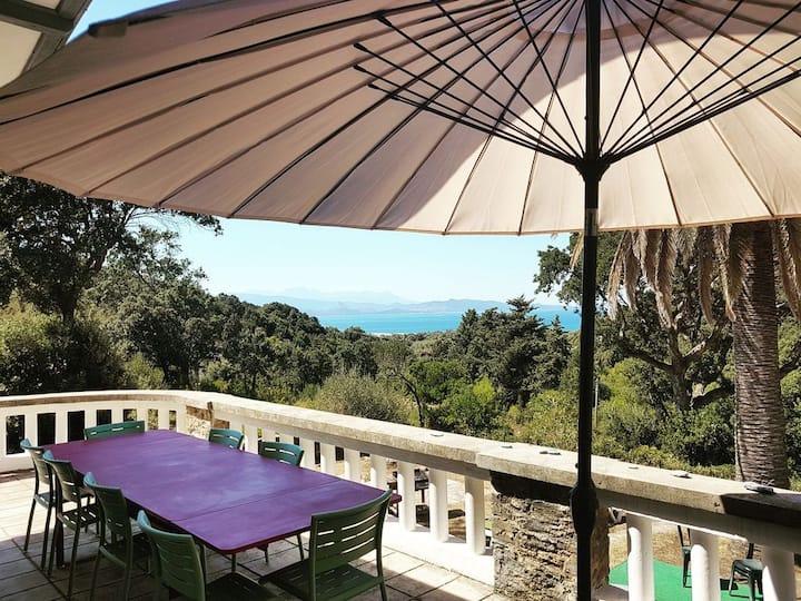Domaine de Stazzona, villa 10 personnes avec vue