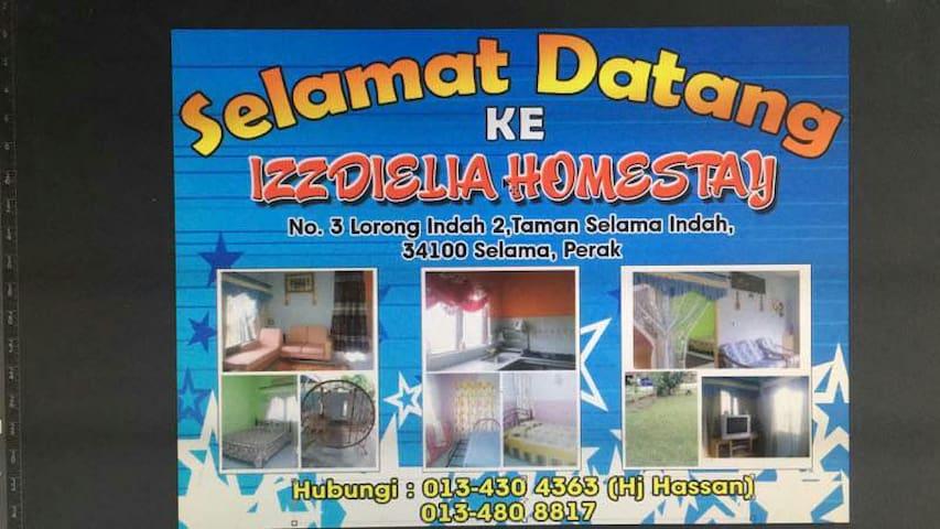 IzzDieLia homestay - Selama - Σπίτι