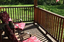Enjoy your morning coffee on the porch, listening to the birds.