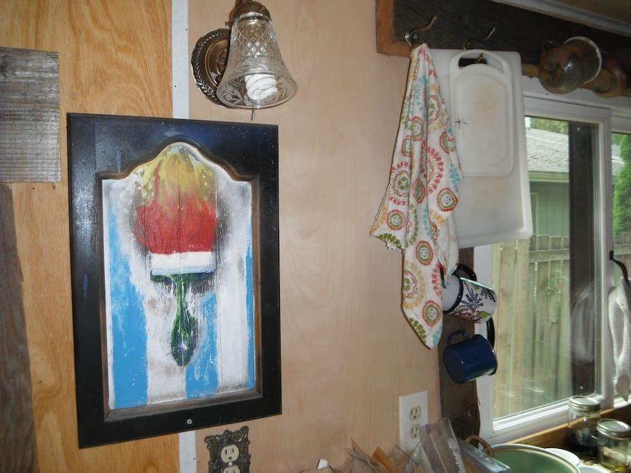 Saturday Market art work in Tiny House.