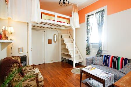 Le Peach Parlor,Free Bikes,Loft Bed - Nueva Orleans