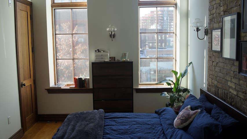 Cozy room in the sunniest apt on Williamsburg! - Brooklyn - Apartament