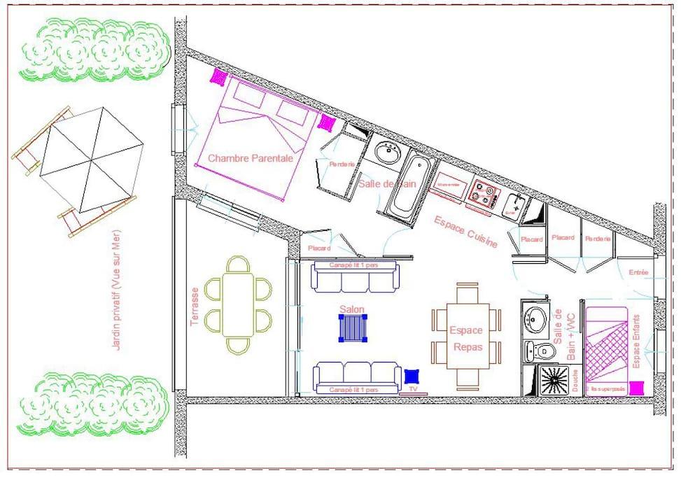 Plan de l'apartement