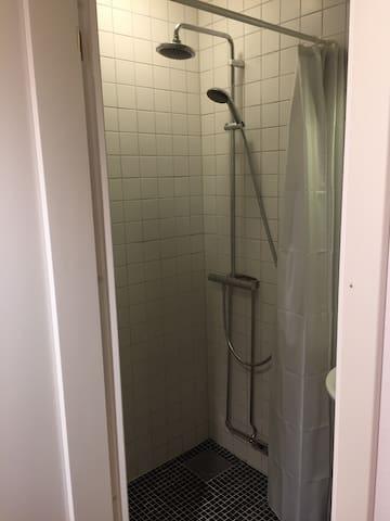 Newly restored shower